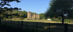 stradey castle with marquee