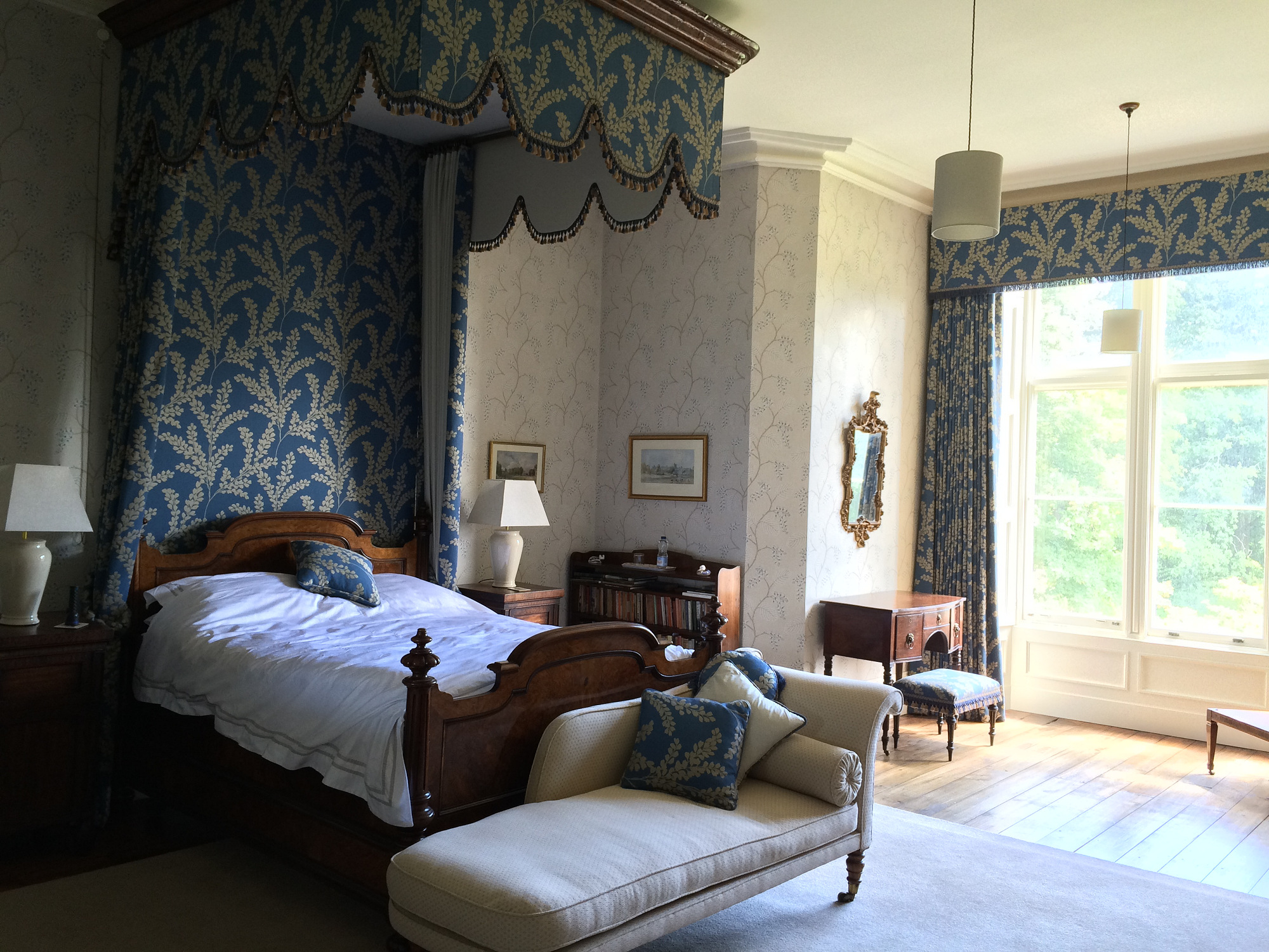 The Bridal suite at Stradey Castle