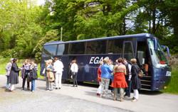 Tour bus arrives at Stradey