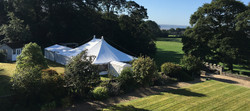 Wedding marquee at Stradey