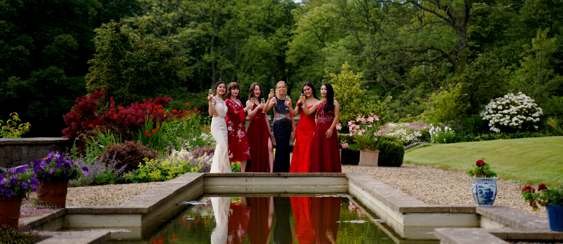 Prom photoshoot at Stradey Castle