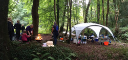 Camping in Stradey woods