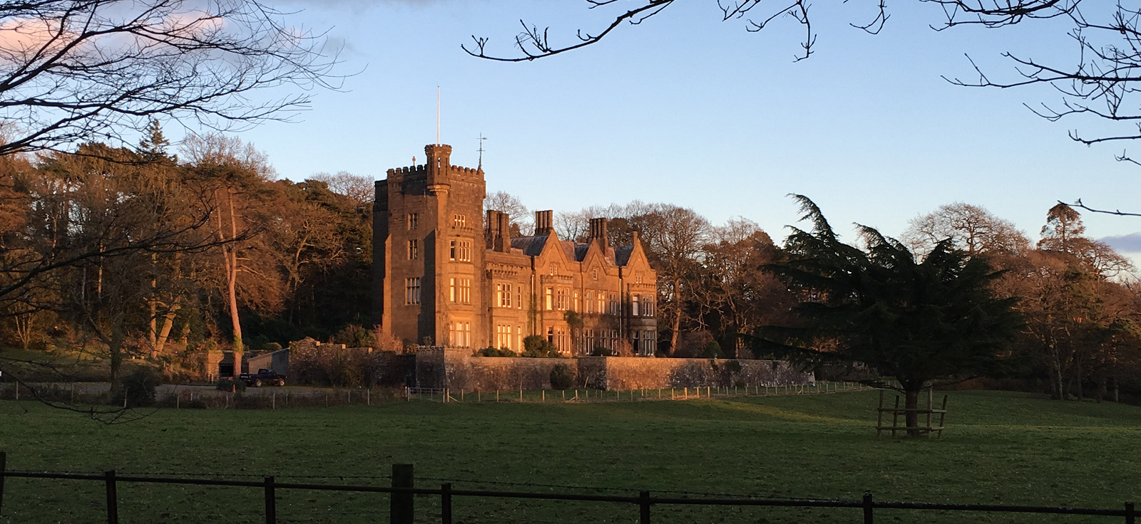 Stradey Castle, Winter sunshine