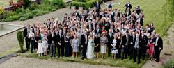 Wedding party on terrace garden