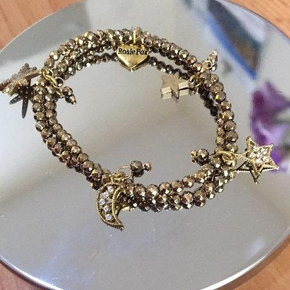 Pyrite Charm Bracelet