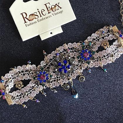 RF Lace Beaded Cuff
