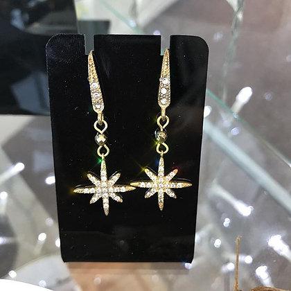 Pyrite Star Earrings
