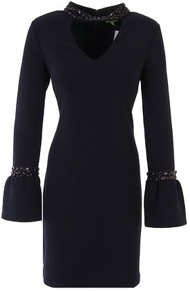 Black Bead Choker Dress