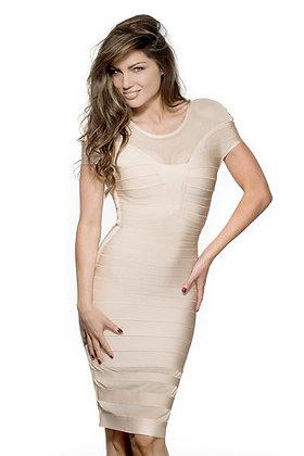 Charlie Nude Bandage Dress