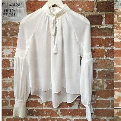 White Blouse Pleated