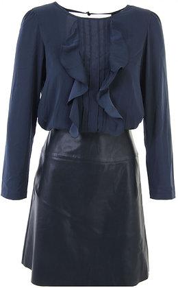 Navy Blouse/Skirt Dress