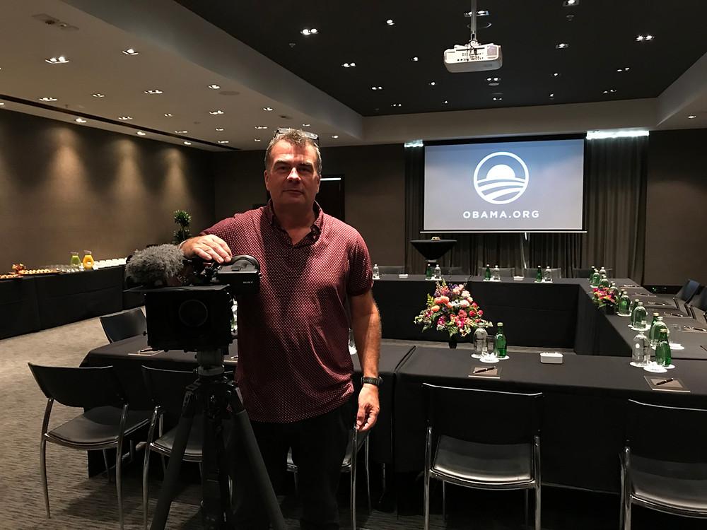 Auckland Videographer Jon Bowden filming an event