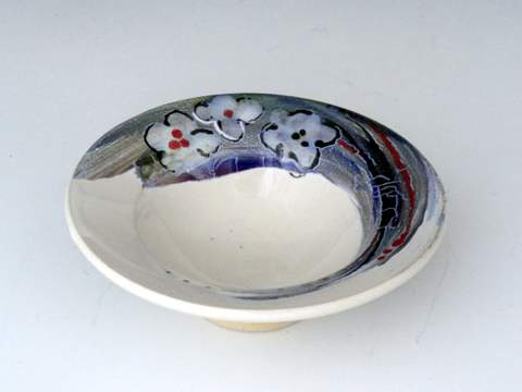 Carlson Pottery Floral Hand made Wheel thrown-011