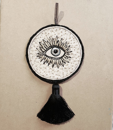 Gold Eye Beaded Hanging Ornament