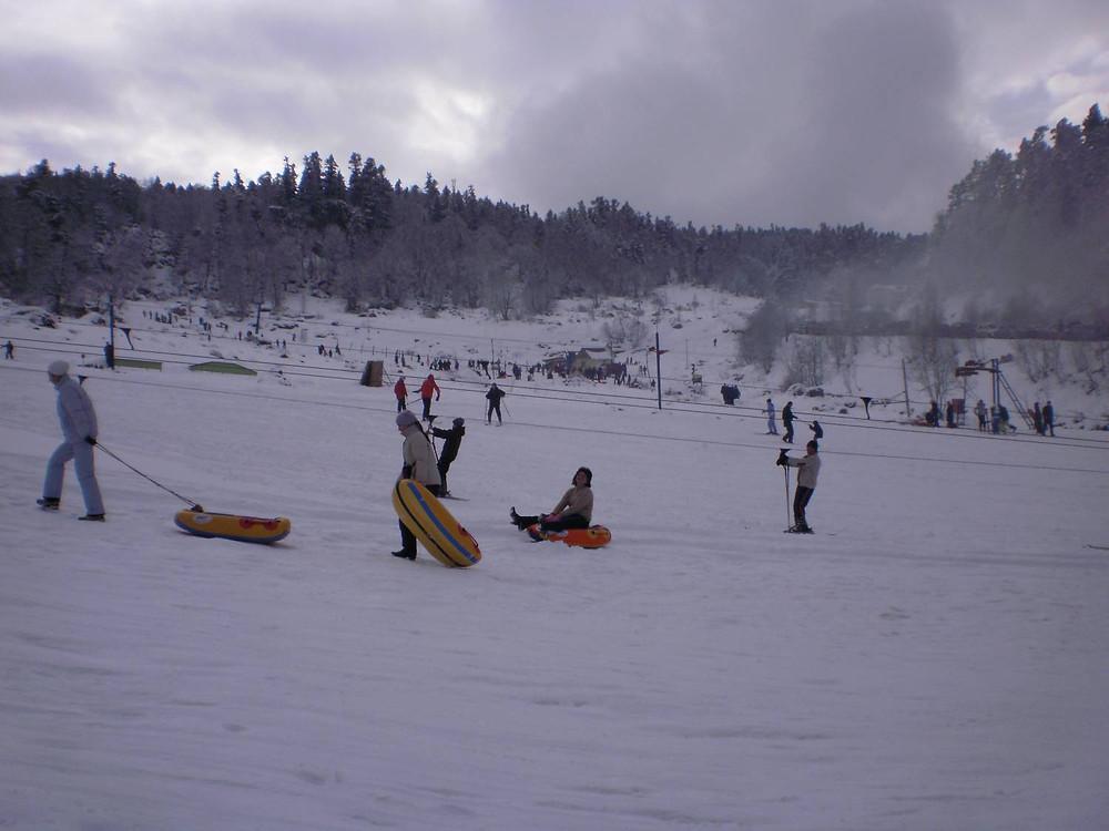 Лагонаки зимой
