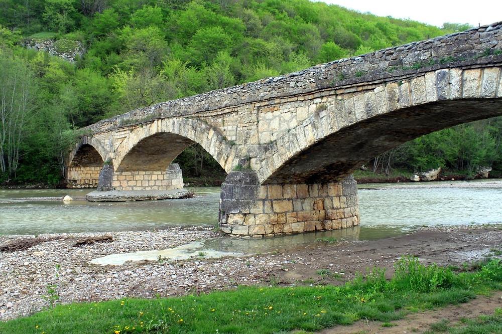 Старый мост. Станица Даховская
