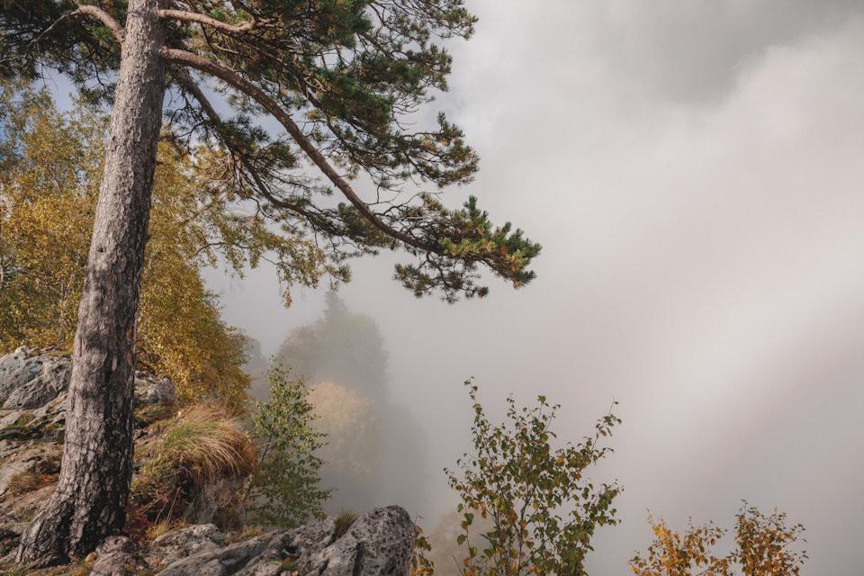 На плато Лагонаки туман