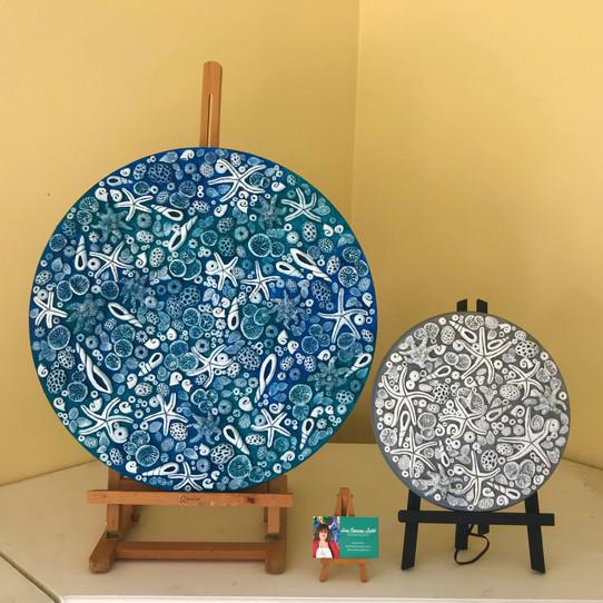 Beach Days no.1 (blue) and no.2 (grey) For Sale Enquiries via website.