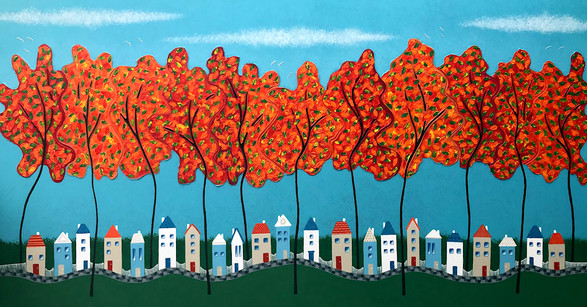 Tiny Town Under the Autum Trees no. 2