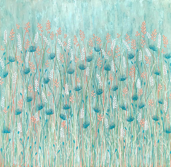 Pastel Wild Flowers - SOLD