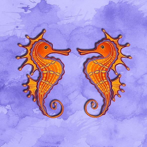 Twin Seahorses no.2