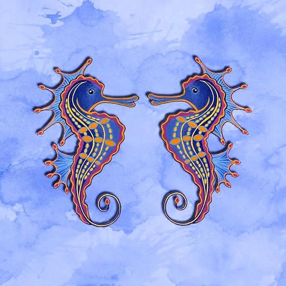 Twin Seahorses no.3