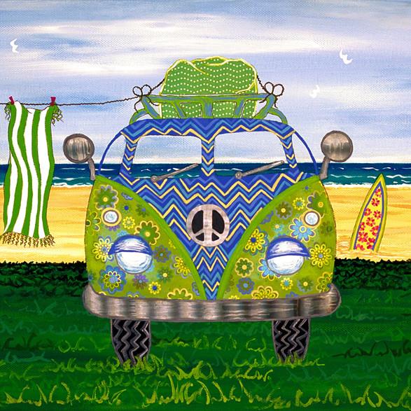 Blue Hippy Van