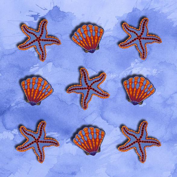 Sea Shells & Starfish no.3