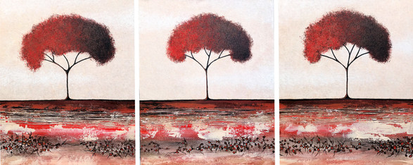 Eternal Flame Trees Triptych