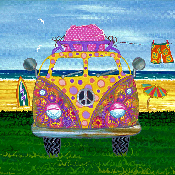 Pink Hippy Van