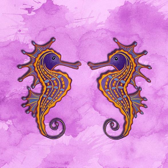 Twin Seahorses no.1