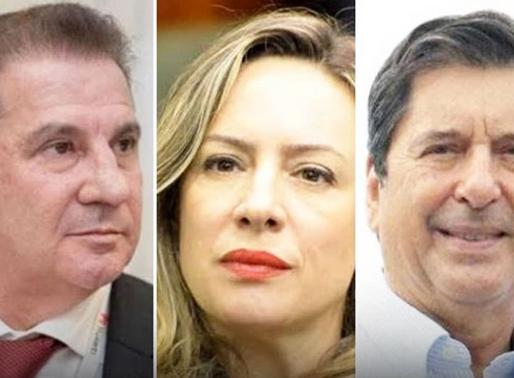 Vanderlan, Maguito e Adriana: empate técnico