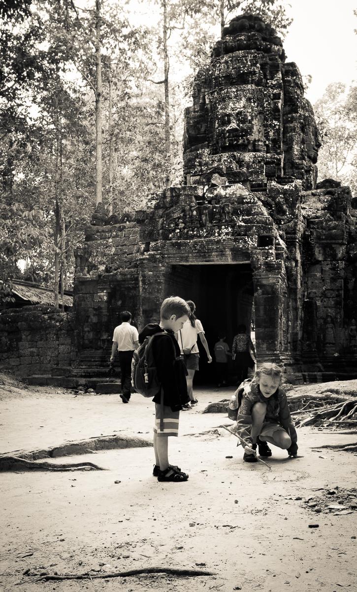 S dětmi v Kambodži
