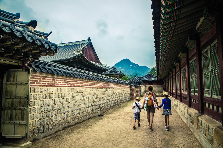 S dětmi v Seoulu