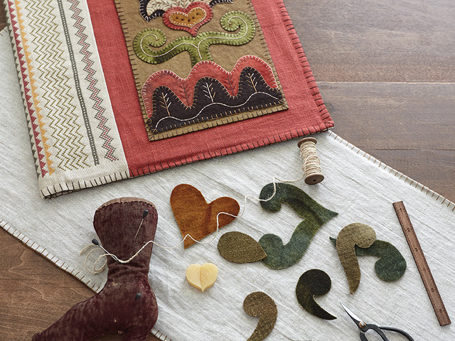 Exploring Folk Art with Wool Appliqué and More