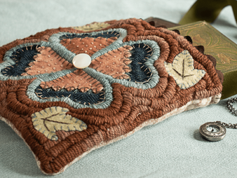 Patterns Re-worked: Yarn Sewing & Wool Applique