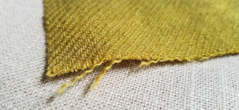 fraying wool