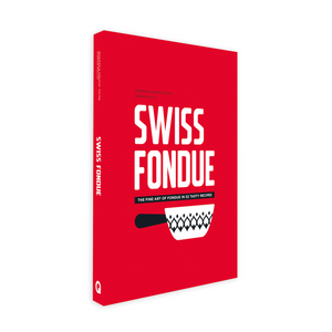 Swiss fondue book cover, tasty recipes, Switzerland, Norge, available in Norway, foodies, scandinavia, norwegian webshop.