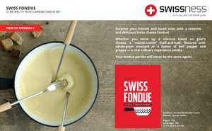 Swiss fondue book best-seller in Switzerland, swissness lifestyle, tasty recipes for foodies and fondies. New in Norway, Norge, Oslo.