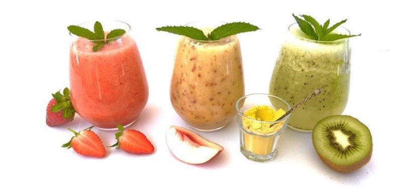 Smoothies with Golden Chlorella vegan protein powder swissness oslo norge, norway fitness healthy detox