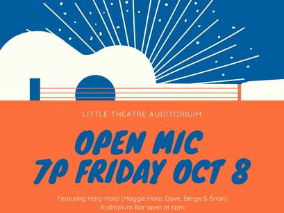 Open Mic Fri Oct 8