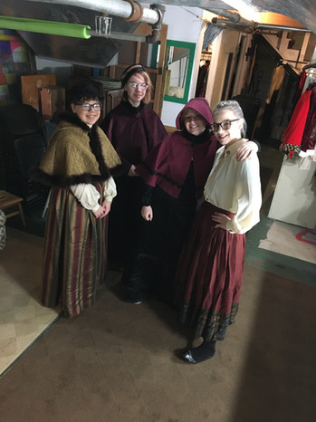 Carolers in the green room: Dickens Xmas 2019