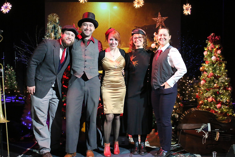 Merry Xmas Miss Myra & the Moonshiners at Dickens Xmas 2019