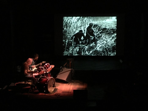 Spring Open! - Brothers Burn Mountain plays live soundtrack with A Bear, A Boy and a Dog