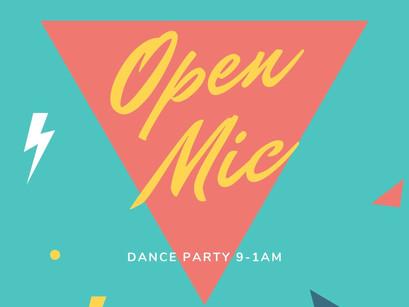 Open Mic Friday, July 9!