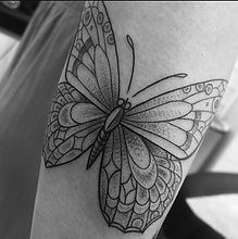 Butterfly Tattoo by Erika Jurkovic