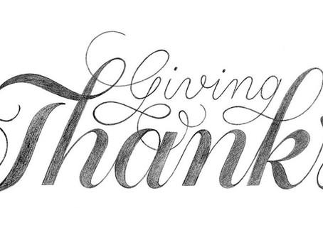 Still Giving Thanks!