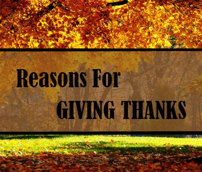 Still Reasons for Giving Thanks!