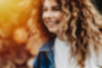 Close up portrait of curly young girl la