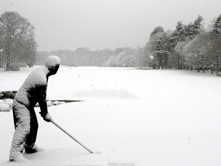 Winter Golf At North Inch in 2018